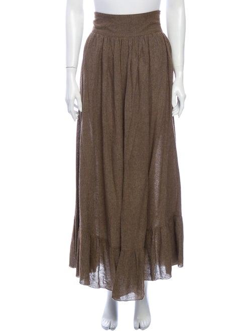 See by Chloé Long Skirt Brown