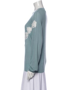 See by Chloé Patterned Crew Neck Sweater