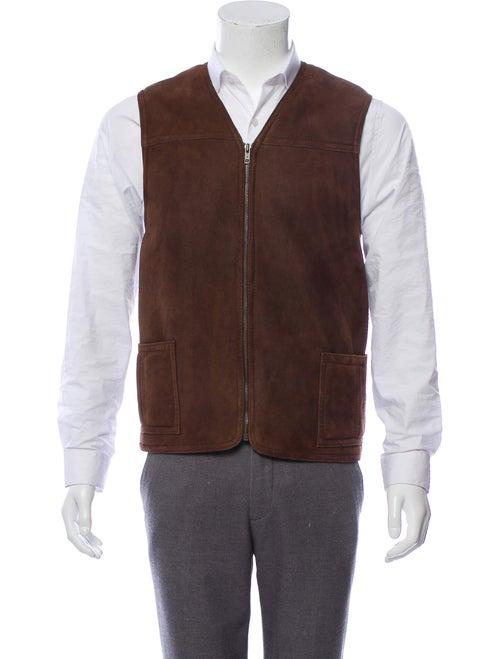 Searle Shearling Vest brown