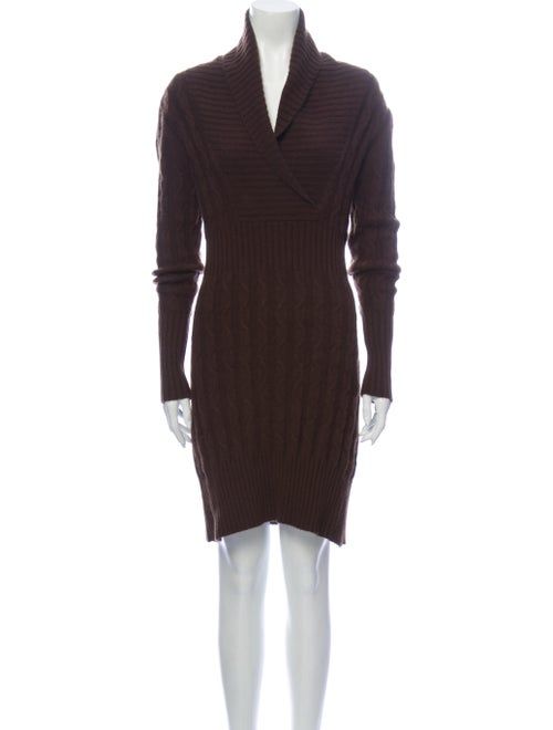 Searle Cashmere Mini Dress Brown