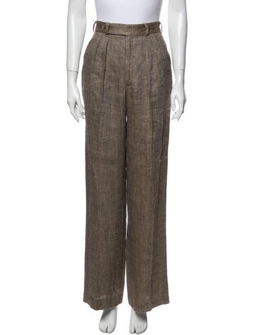 Searle Tweed Pattern Wide Leg Pants Brown