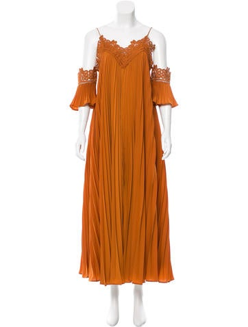Self-Portrait Lace-Trimmed Maxi Dress w/ Tags
