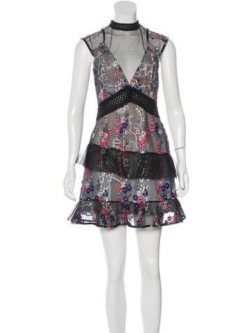 Self-Portrait Floral Lace Dress w/ Tags