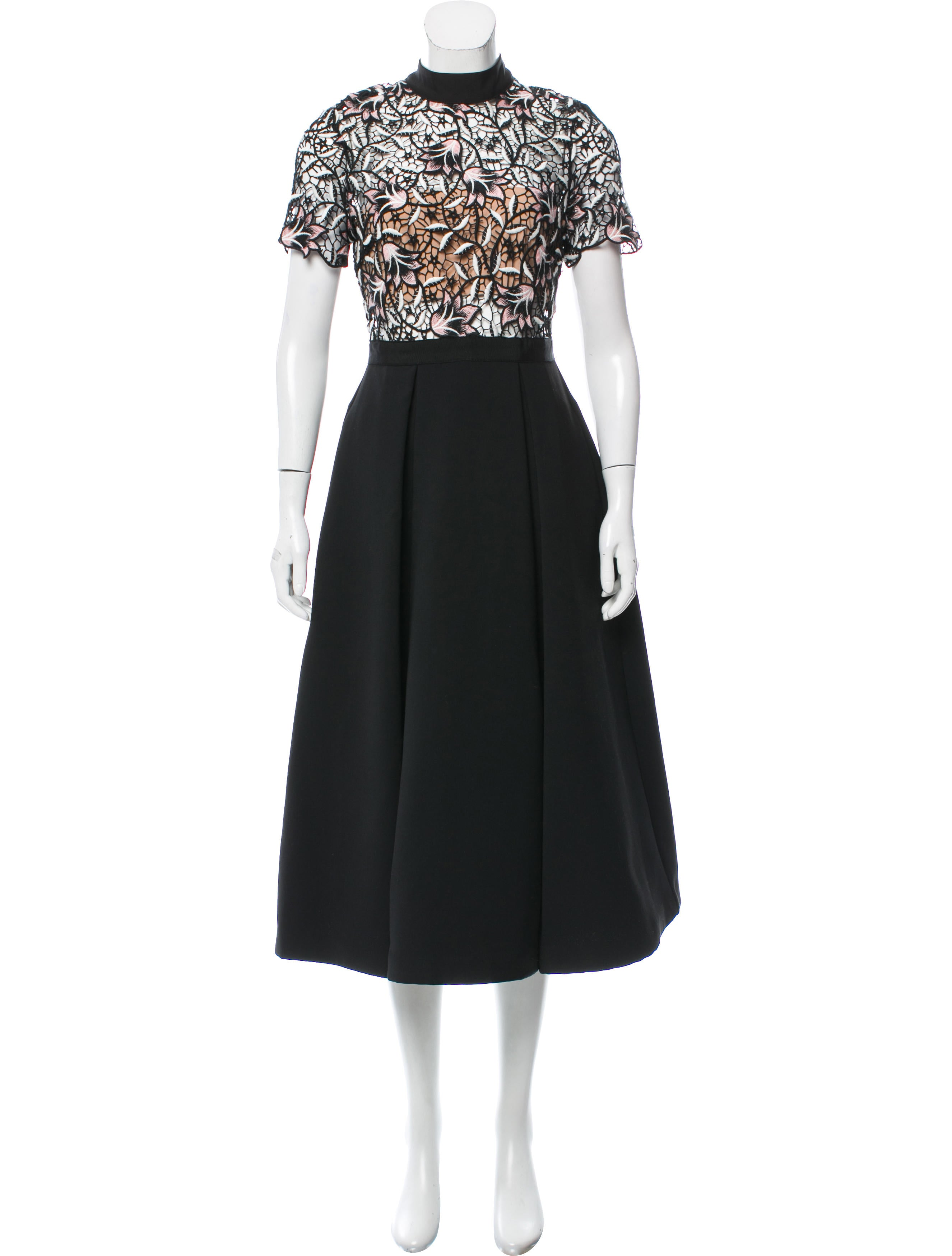e56fe54f6ec1 Self-Portrait Nightshade Midi Dress - Clothing - WSELF22717 | The RealReal