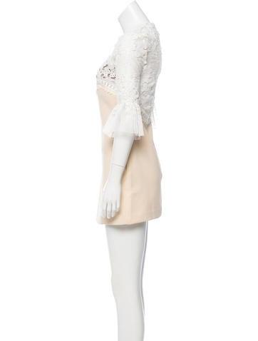 Lace-Accented Mini Dress