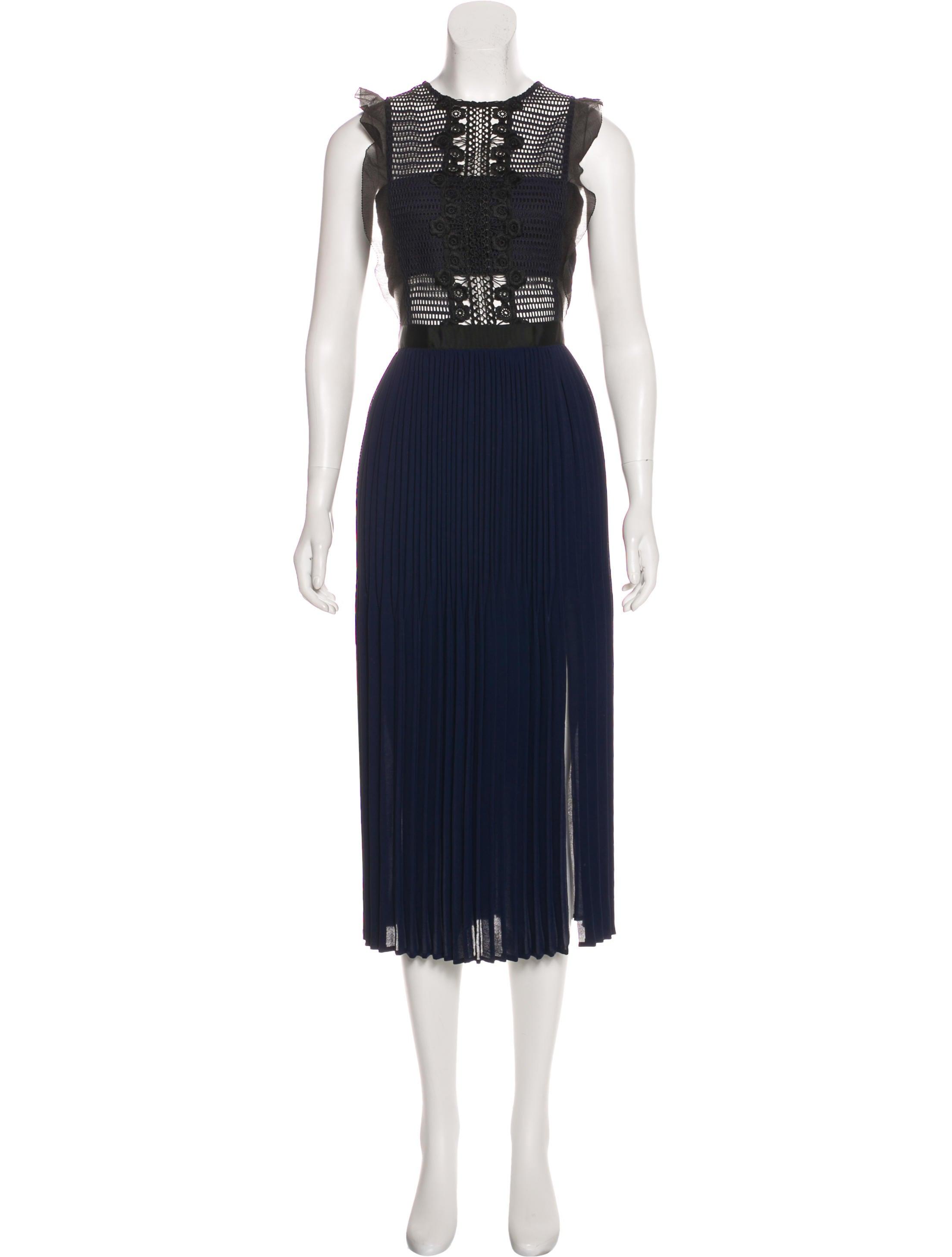 06f5b0c027d Self-Portrait Ruffle-Trimmed Pleated Dress - Clothing - WSELF27402 ...