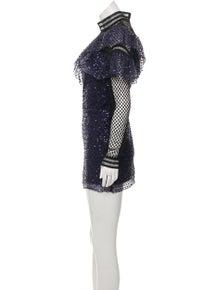 fe50e8dc1f86 Self-Portrait. Embellished Mini Dress