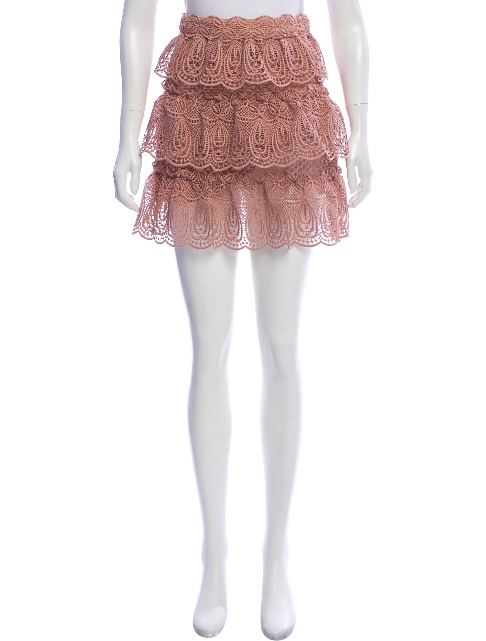 9bc1930a0 Self-Portrait Crochet Mini Skirt - Clothing - WSELF29177 | The RealReal