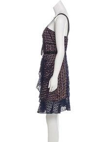 7dfff6f0c402 Self-Portrait. Lace Knee-Length Dress ...