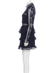 f65e0a297ea5 Self-Portrait. Long Sleeve Mini Dress