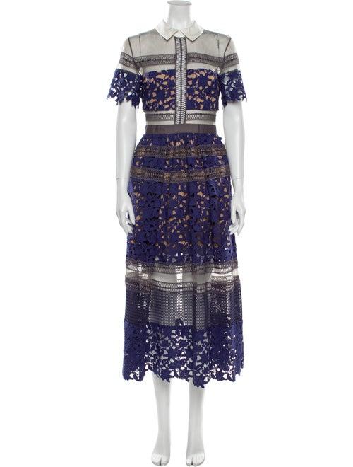 Self-Portrait Liliana Long Dress Purple