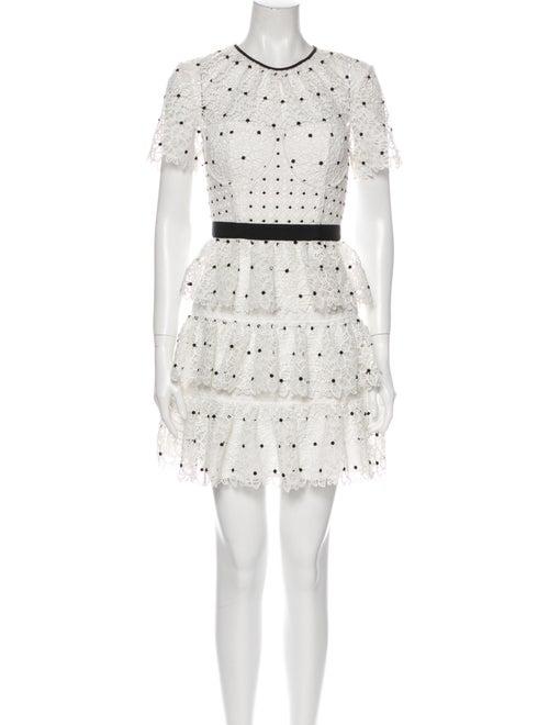 Self-Portrait Printed Mini Dress White