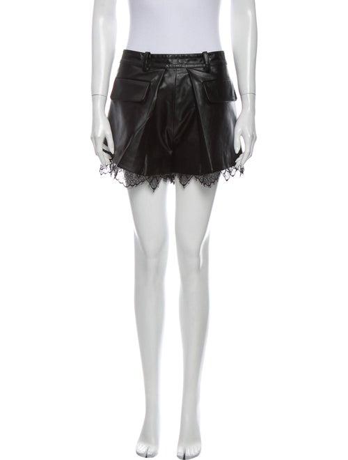 Self-Portrait Mini Shorts Black