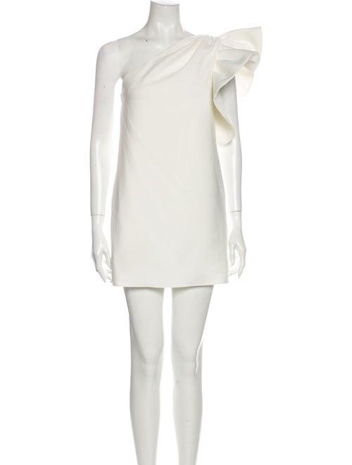 Self-Portrait One-Shoulder Ruffle Mini Dress w/ Ta