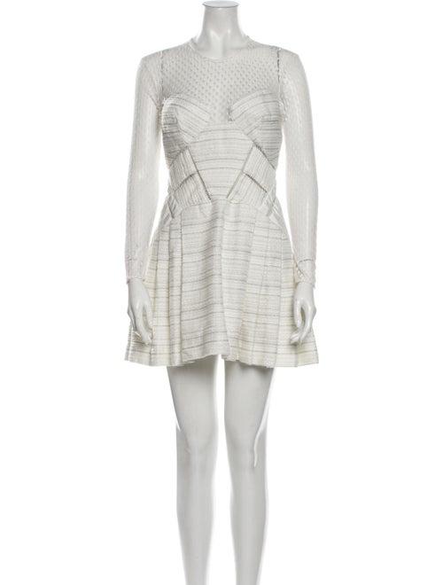 Self-Portrait Patterned Mini Dress