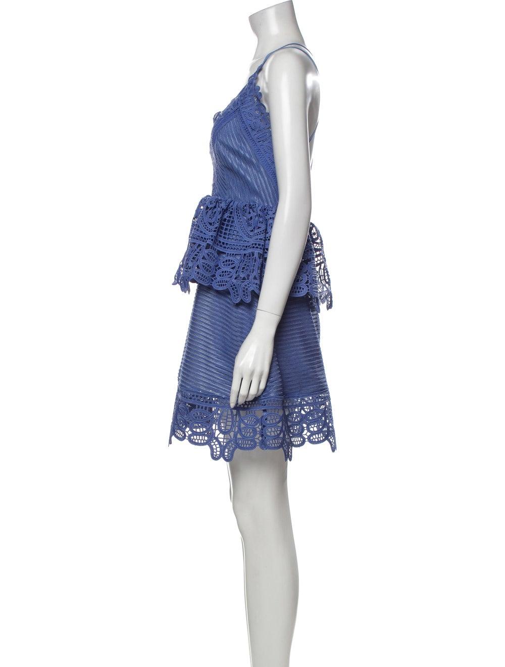 Self-Portrait 2009 Mini Dress Blue - image 2
