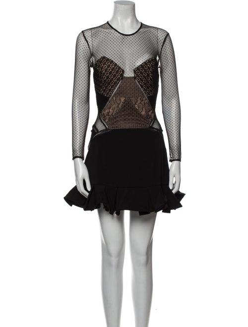 Self-Portrait 2002 Mini Dress Black - image 1
