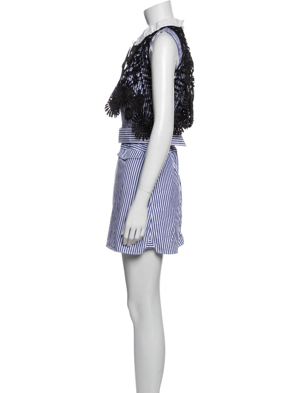Self-Portrait Striped Mini Dress Blue - image 2