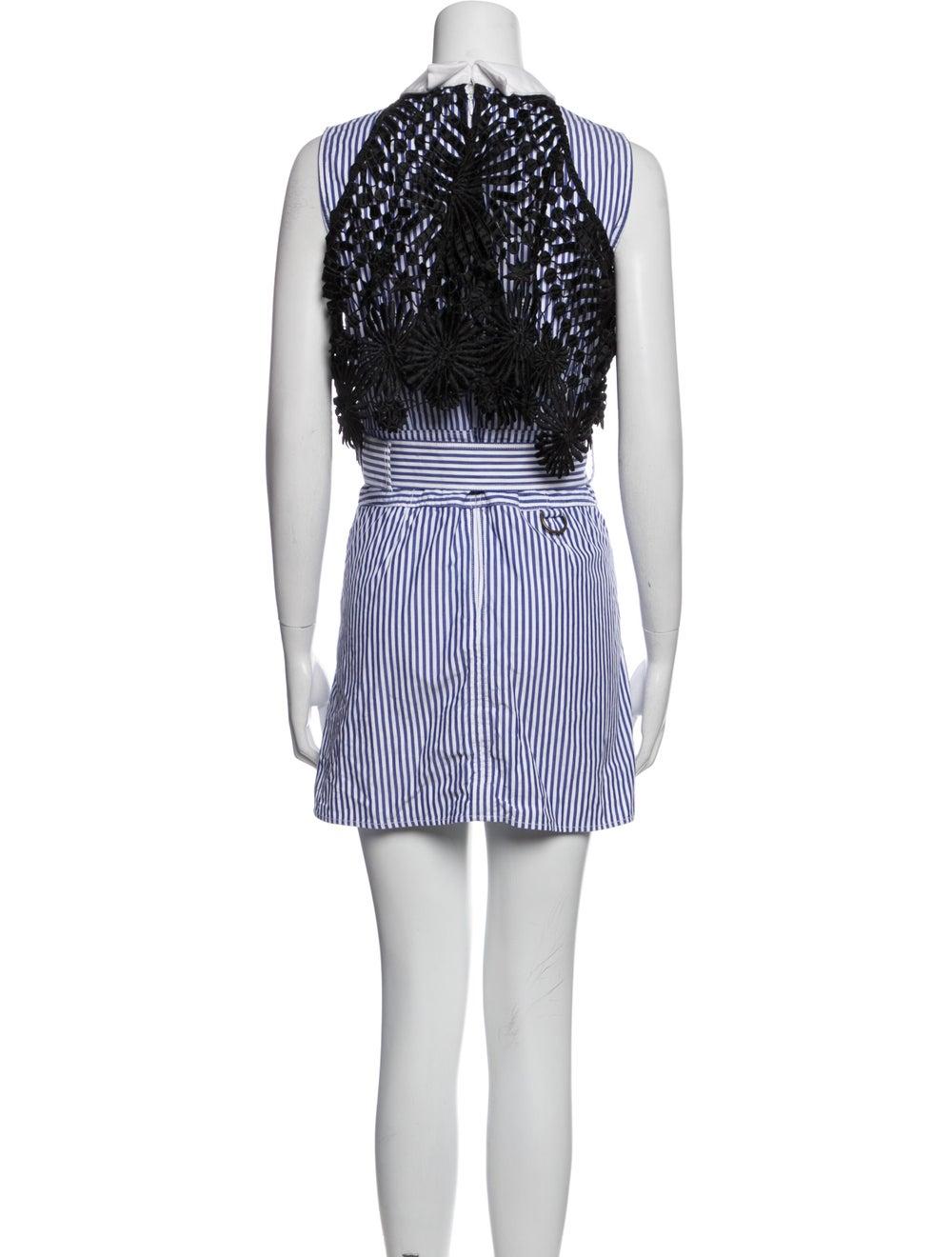 Self-Portrait Striped Mini Dress Blue - image 3