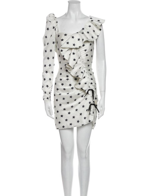 Self-Portrait Printed Mini Dress White - image 1