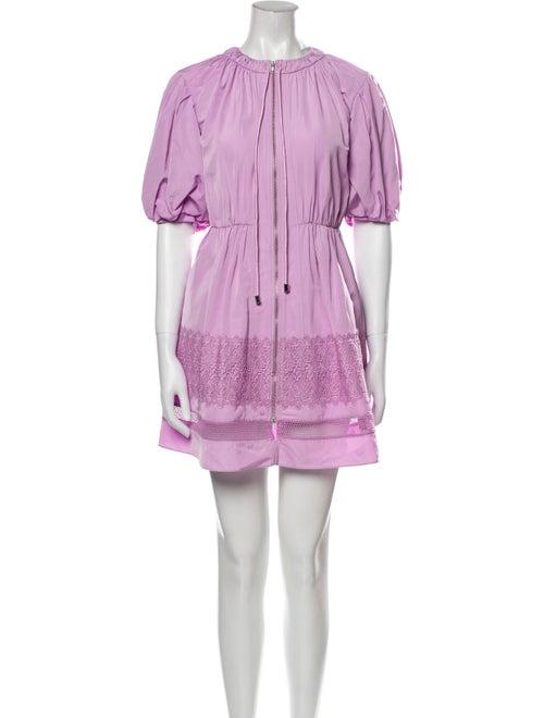 Self-Portrait 2021 Mini Dress Purple - image 1