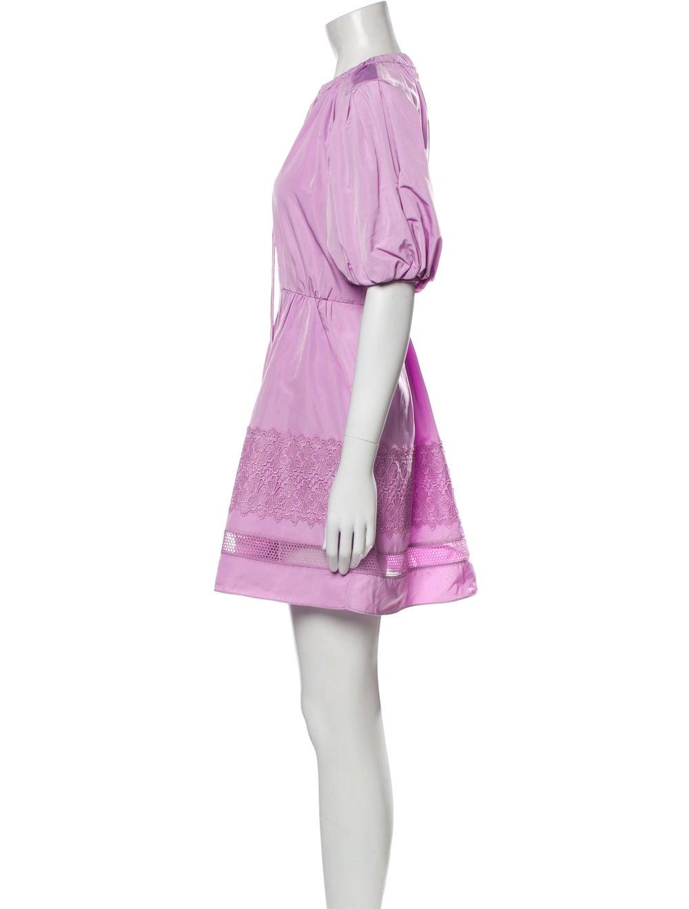 Self-Portrait 2021 Mini Dress Purple - image 2