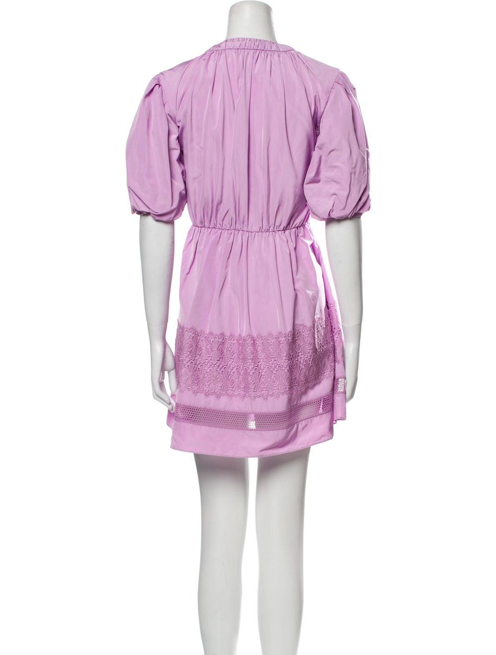 Self-Portrait 2021 Mini Dress Purple - image 3