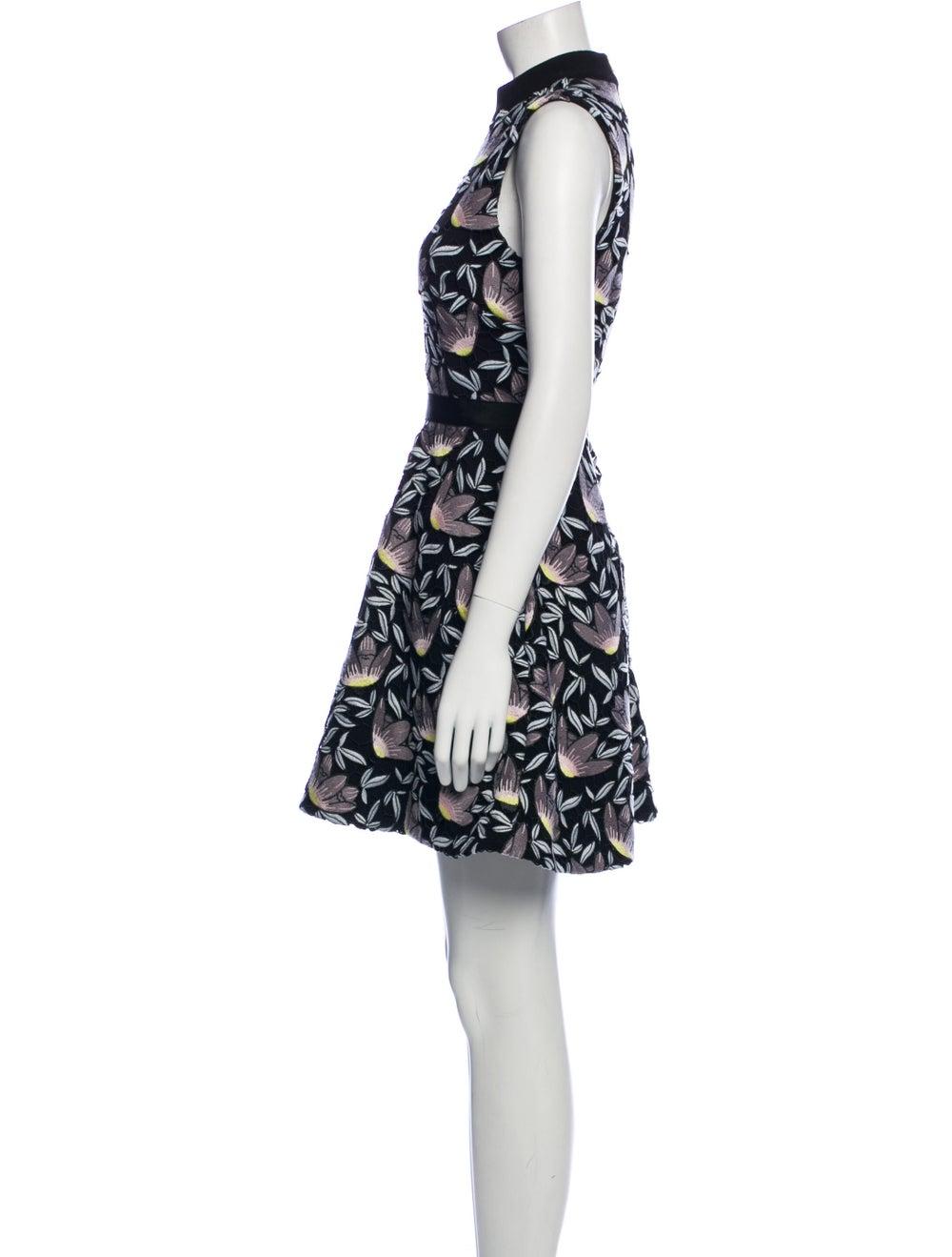 Self-Portrait Printed Mini Dress Black - image 2