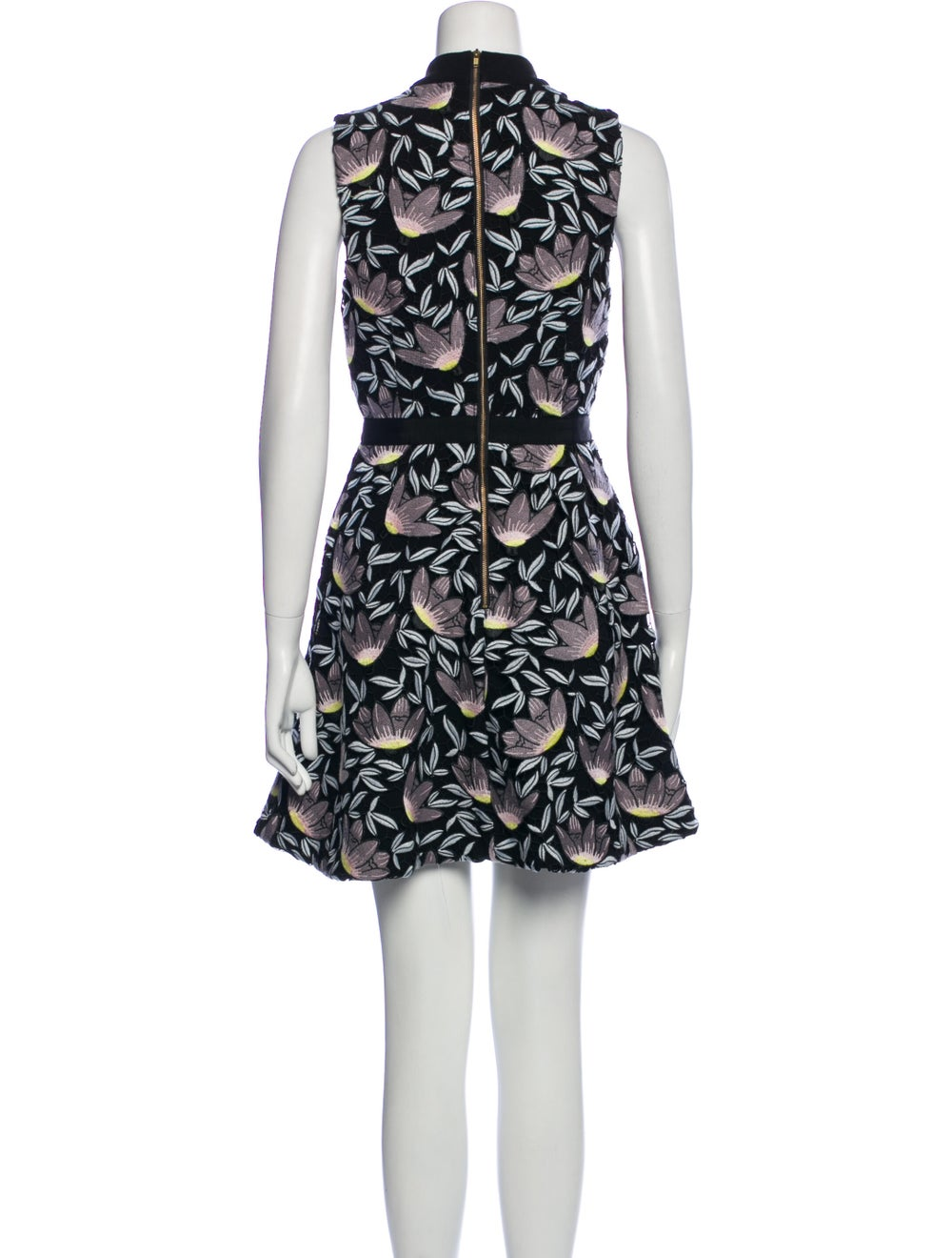 Self-Portrait Printed Mini Dress Black - image 3