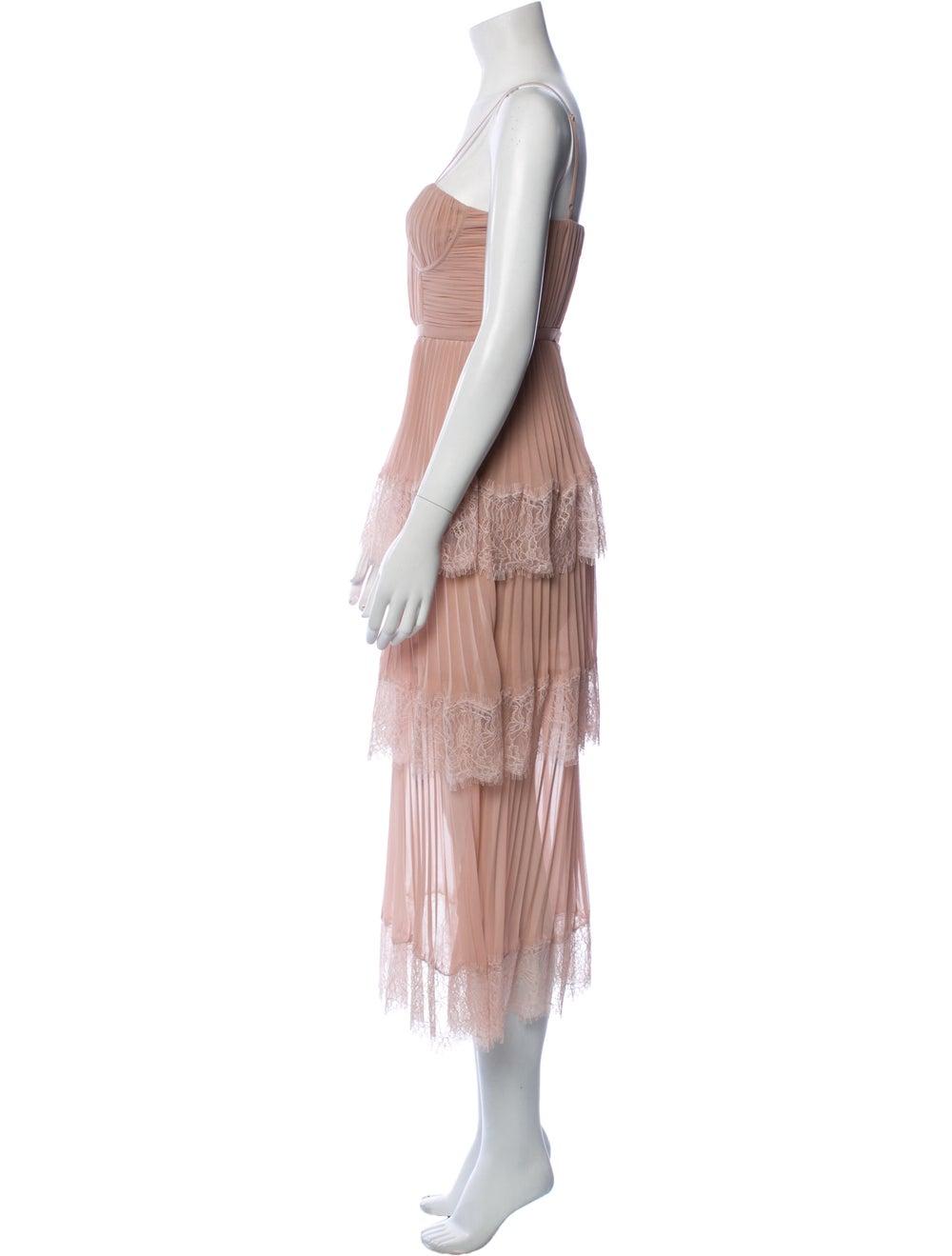 Self-Portrait Square Neckline Long Dress Pink - image 2