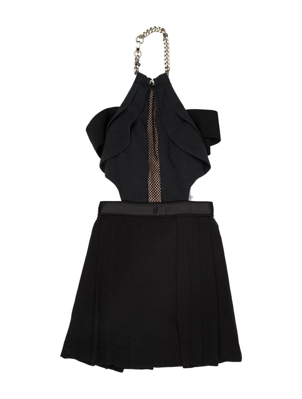 Self-Portrait Halterneck Mini Dress Black - image 1