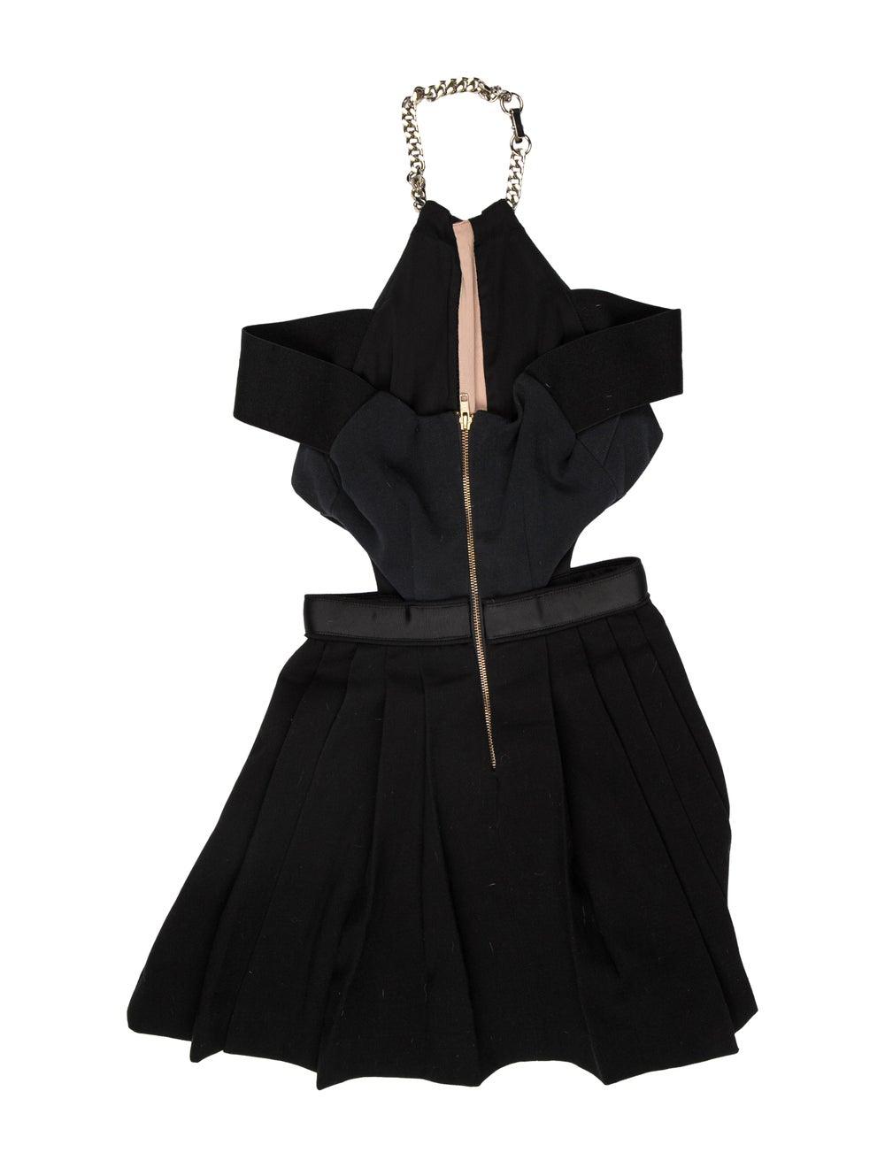 Self-Portrait Halterneck Mini Dress Black - image 2