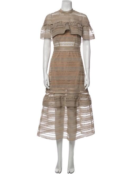 Self-Portrait Striped Long Dress - image 1