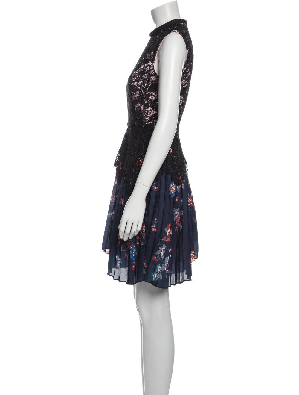 Self-Portrait Lace Pattern Knee-Length Dress Black - image 2