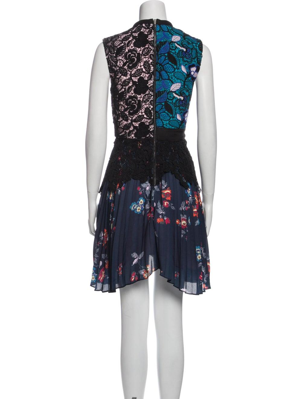 Self-Portrait Lace Pattern Knee-Length Dress Black - image 3