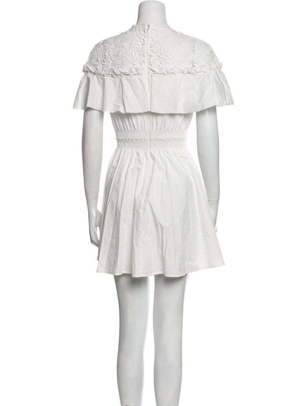 Self-Portrait Mock Neck Mini Dress White - image 3