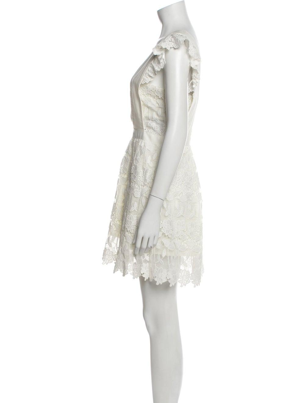 Self-Portrait Square Neckline Mini Dress White - image 2