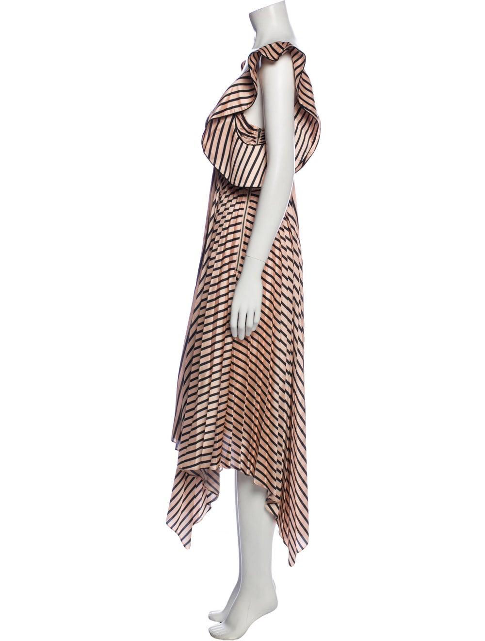 Self-Portrait Striped Long Dress - image 2