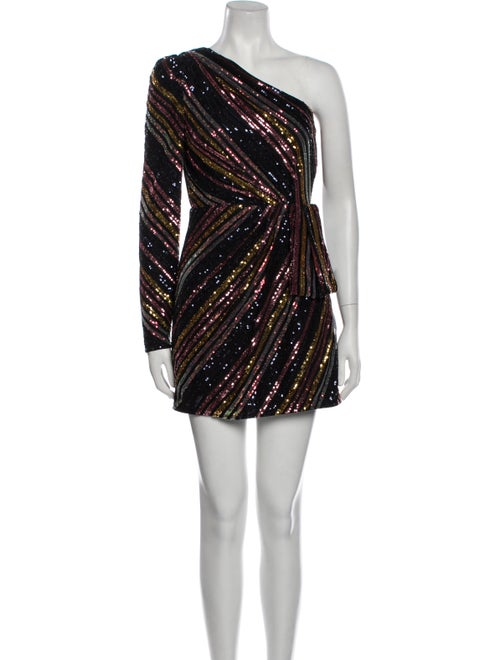 Self-Portrait Striped Mini Dress w/ Tags Black