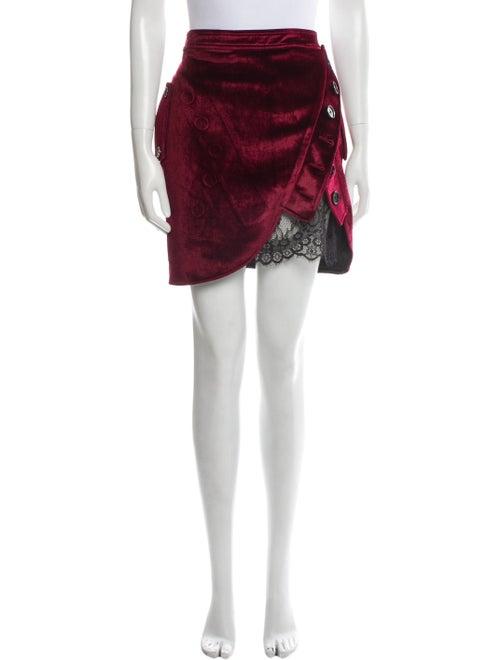 Self-Portrait Lace Trim Embellishment Mini Skirt R