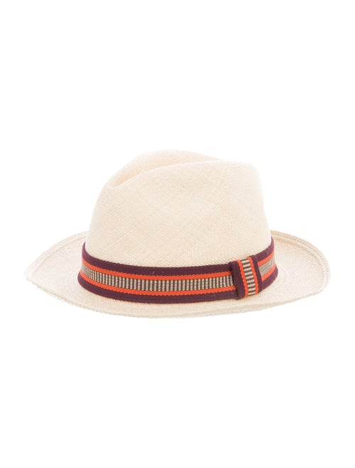 Sensi Studio Straw Fedora Hat Tan