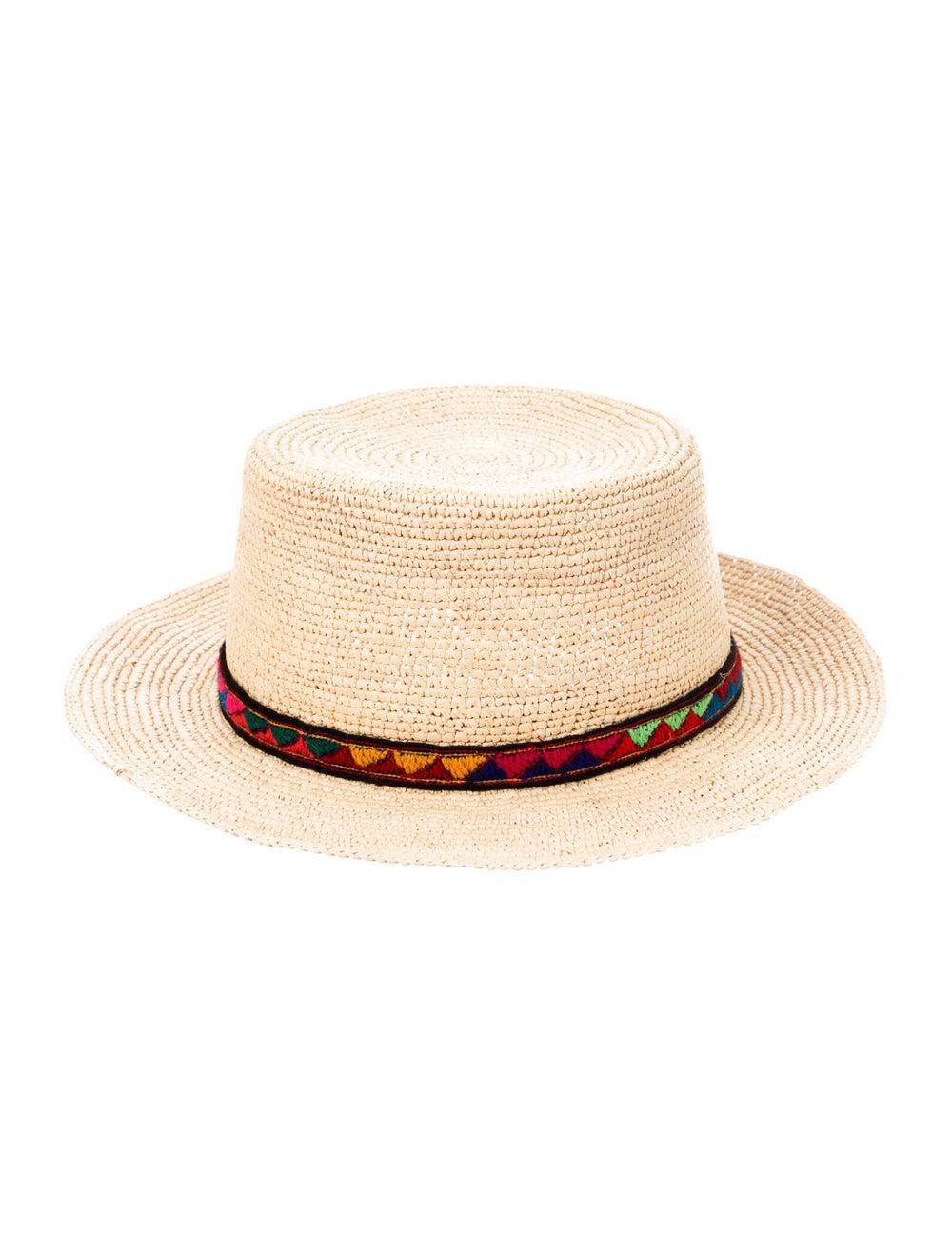 Sensi Studio Straw Wide-Brim Hat Khaki - image 2