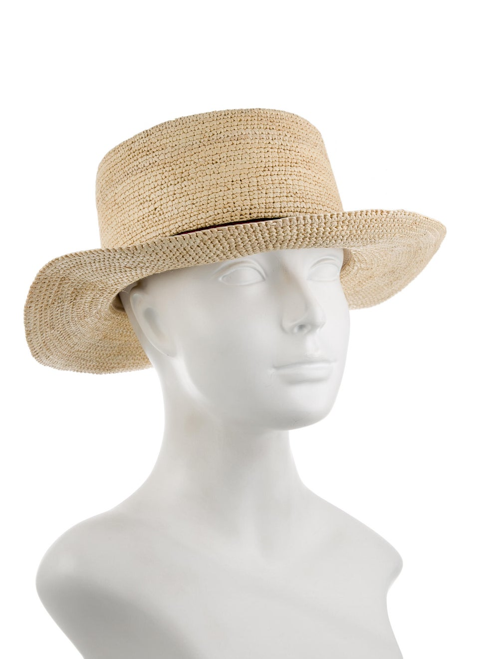 Sensi Studio Straw Wide-Brim Hat Khaki - image 3