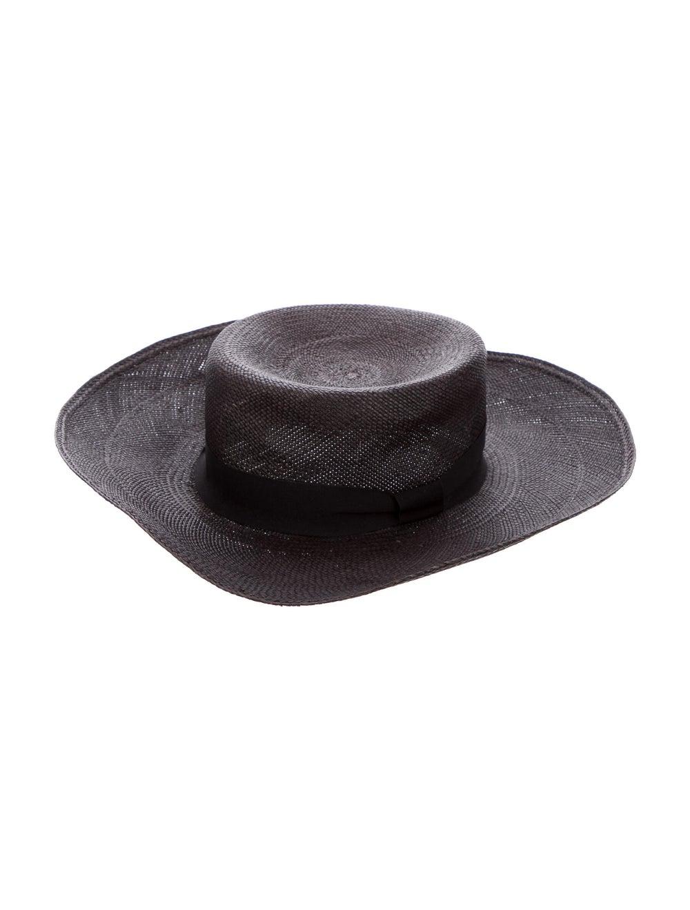 Sensi Studio Straw Wide Brim Hat Black - image 1
