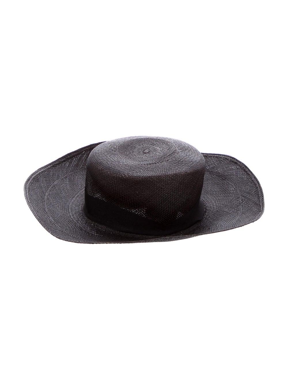 Sensi Studio Straw Wide Brim Hat Black - image 2