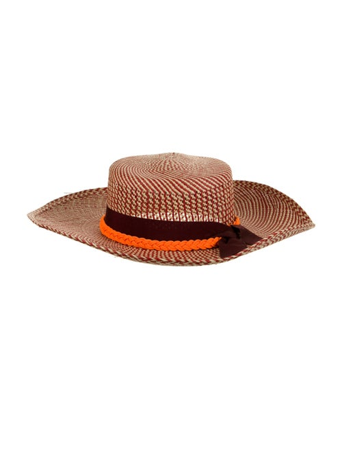 Sensi Studio Wide Brim Straw Hat Red - image 1