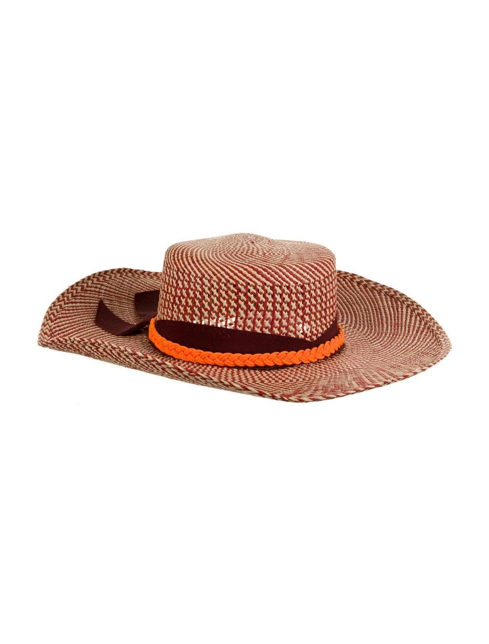 Sensi Studio Wide Brim Straw Hat Red - image 2