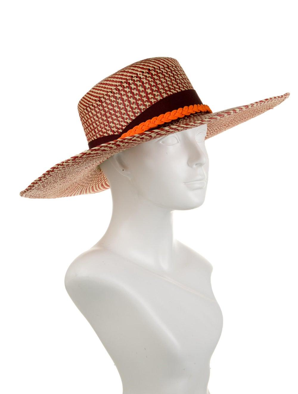 Sensi Studio Wide Brim Straw Hat Red - image 3