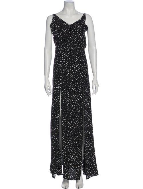 Stone Cold Fox Printed Long Dress Black