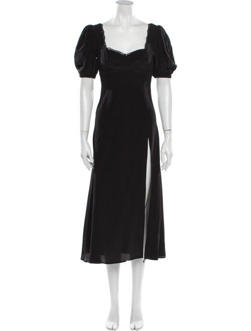 Stone Cold Fox Silk Long Dress Black